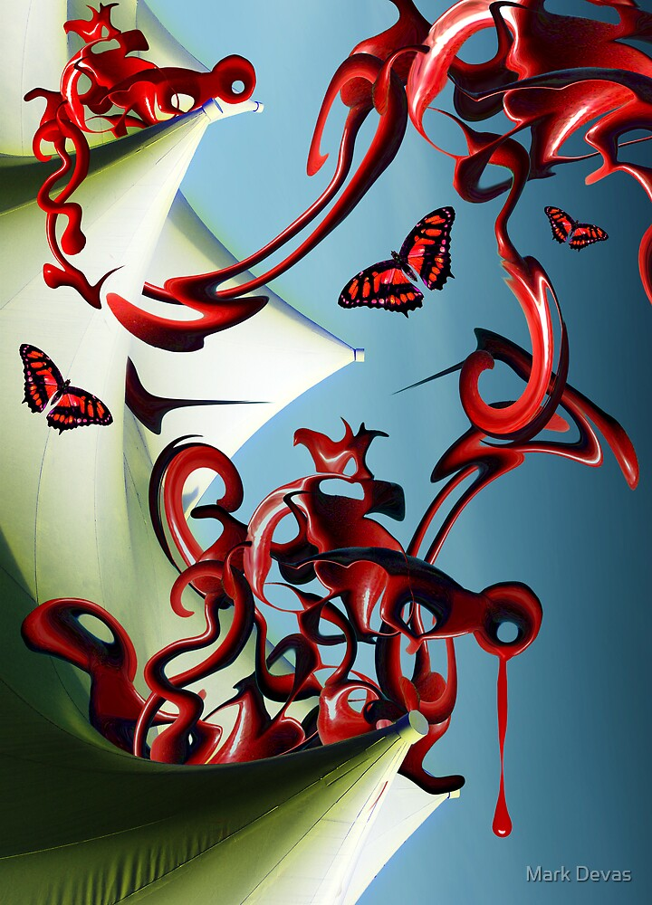 Red Butterflies by Mark Devas