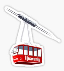 Heavenly Cable Car Sticker