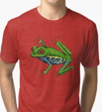 Colorful Tree Frog Tri-blend T-Shirt