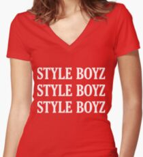 Style Boyz Women's Fitted V-Neck T-Shirt