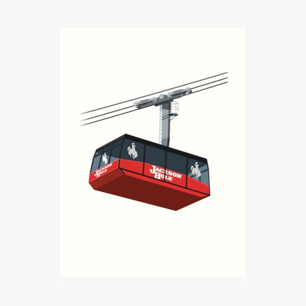 Jackson Hole Cable Car Art Print