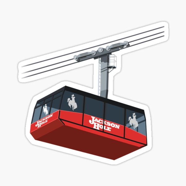 Jackson Hole Cable Car Sticker