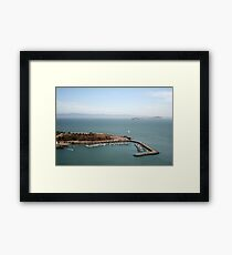 View from Golden Gate bridge San Francisco CA Framed Print