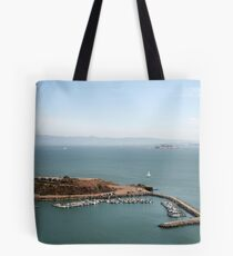 View from Golden Gate bridge San Francisco CA Tote Bag