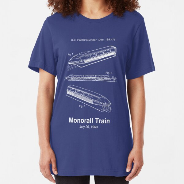 Monorail Train Patent Slim Fit T-Shirt