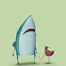 Shark and friend by agrapedesign