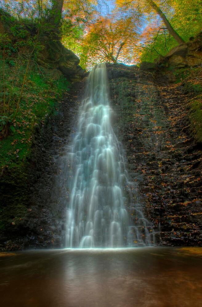 Falling Foss Waterfall by WhartonWizard