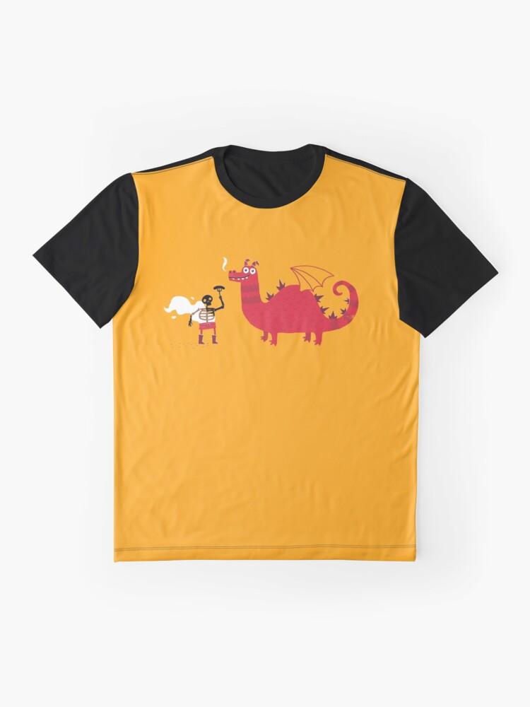 Alternate view of Dragon BBQ Graphic T-Shirt