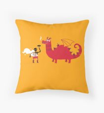 Dragon BBQ Throw Pillow