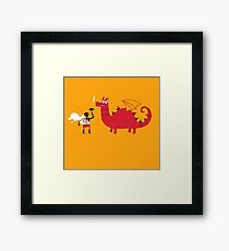 Dragon BBQ Framed Print