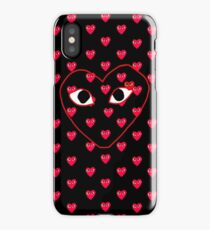 comme des garcons red Play Collage iPhone Case/Skin