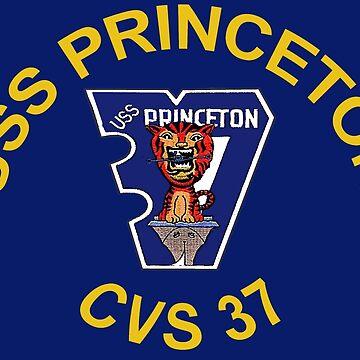 USS Princeton (CV/CVA/CVS-37) Crest for Dark Colors by Spacestuffplus