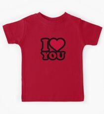 I love you red heart Kids Tee
