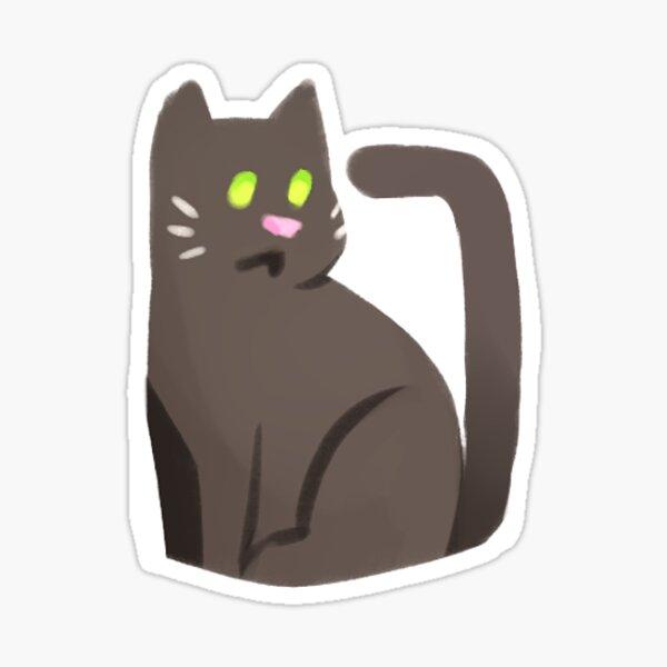 Little Black Kitty Cat Sticker