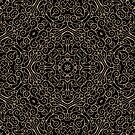 Black and Gold Filigree 002 by Ruth Moratz