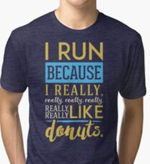 Running for Donuts Tri-blend T-Shirt