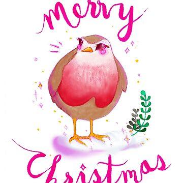 Merry Christmas Robin by ichigobunny