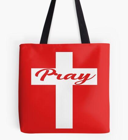 Pray - Cross Tote Bag