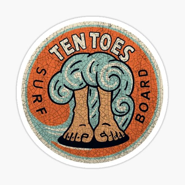 Ten Toes surfboards  Sticker