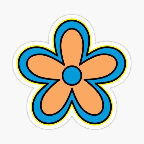 Daisy Age Cartoon Flower Sticker