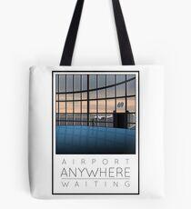 Poster Airport Waiting Tote Bag