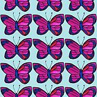 Pen and Ink Drawing of a Butterfly by beckytide