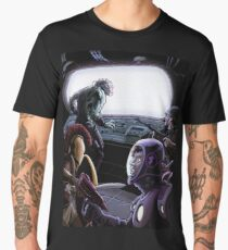 Evil Timelord Confronted by Captives Men's Premium T-Shirt