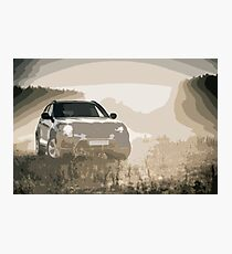 Modern SUV in Amazing Light Conditions Photographic Print