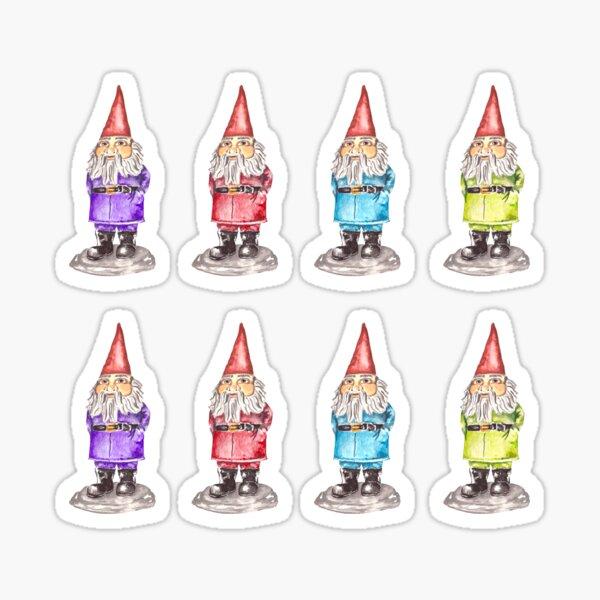 Fun and Cute Gnome Pattern Sticker
