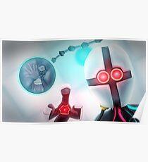 Creepy Robot Design Poster