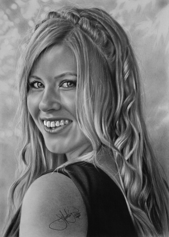 Portrait Commission drawing by John Harding