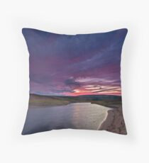 Inverness Beach River Sunrise Throw Pillow