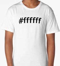 Hexidecimal White Long T-Shirt
