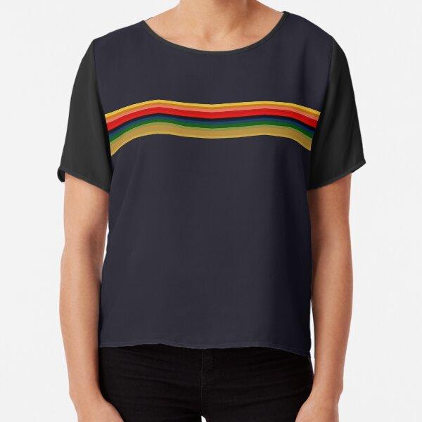 13th Doctor - Rainbow Shirt Chiffon Top