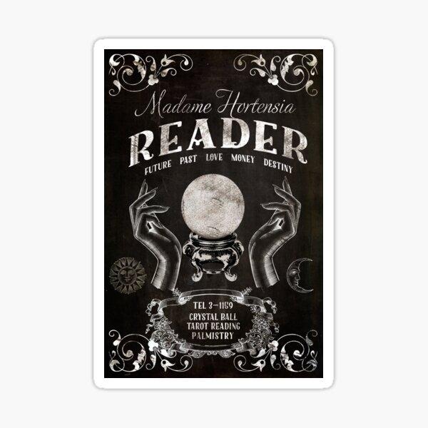 Crystal Ball Reader Vintage Sign Sticker