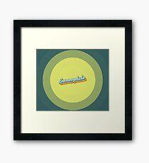 Sunnydale | Retro Rainbow Framed Print