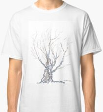 Little DNA Tree, Hand drawn ink on paper ACEO Classic T-Shirt