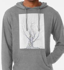 Little DNA Tree, Hand drawn ink on paper ACEO Lightweight Hoodie