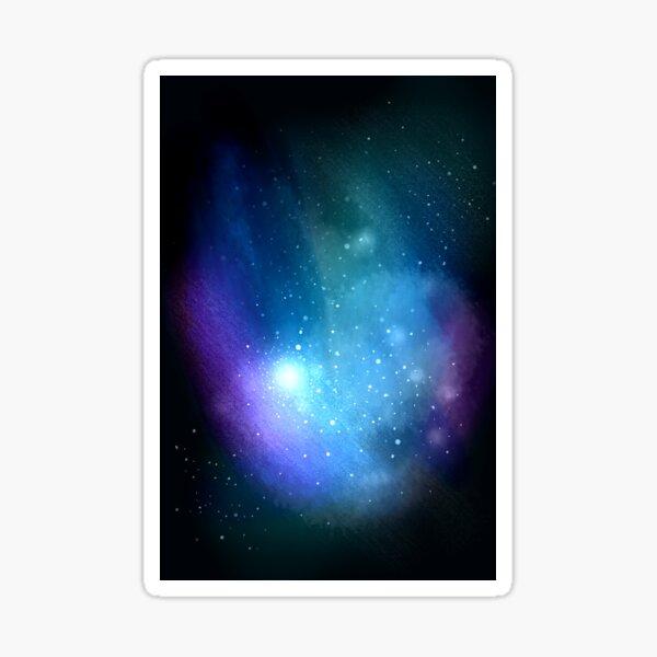 Blue Nebula Sticker