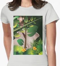 African Jungle T-Shirt II Womens Fitted T-Shirt
