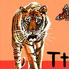 T is for Tiger & Common Tiger Butterfly by Annie Davenport