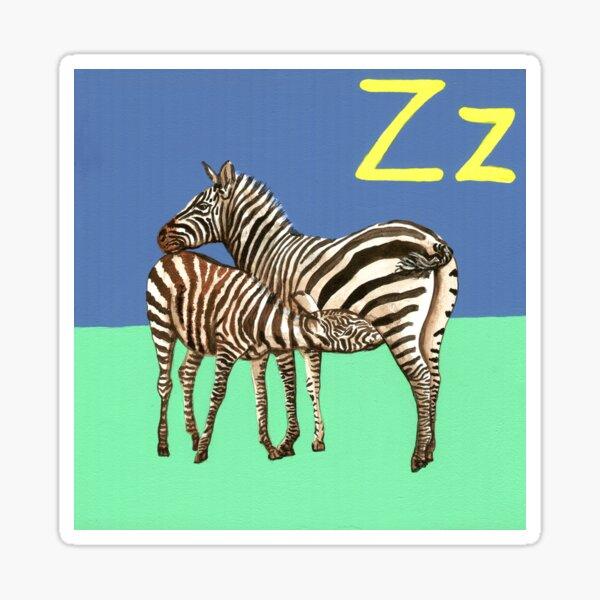 Z is for Zebra Sticker