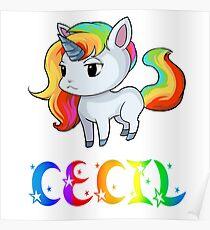 Cecil Unicorn Poster