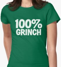 100 percent GRINCH - XMAS INSPIRED PARODY  Women's Fitted T-Shirt