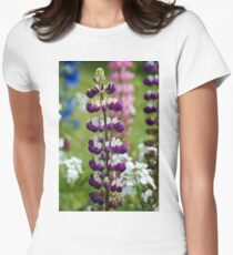 Lupin Flower Womens Fitted T-Shirt