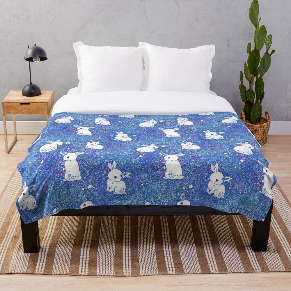 Unicorn Bunny Pattern Throw Blanket
