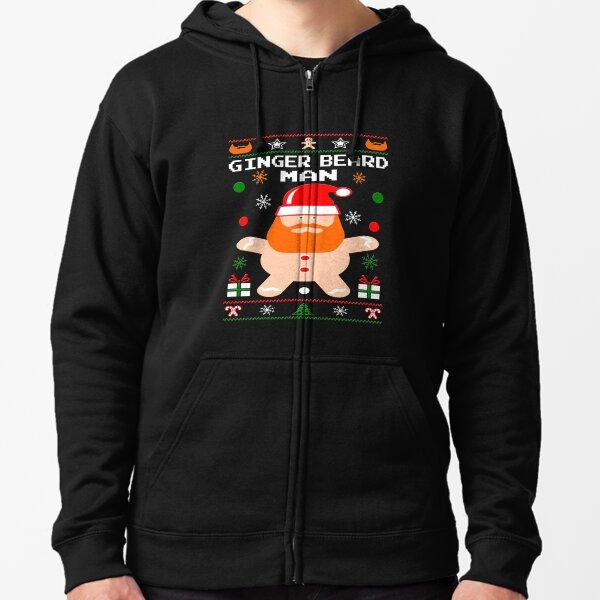 Ginger Beard Man Christmas Zipped Hoodie