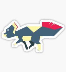 Dinovember Vector Art- Protoceratops Sticker