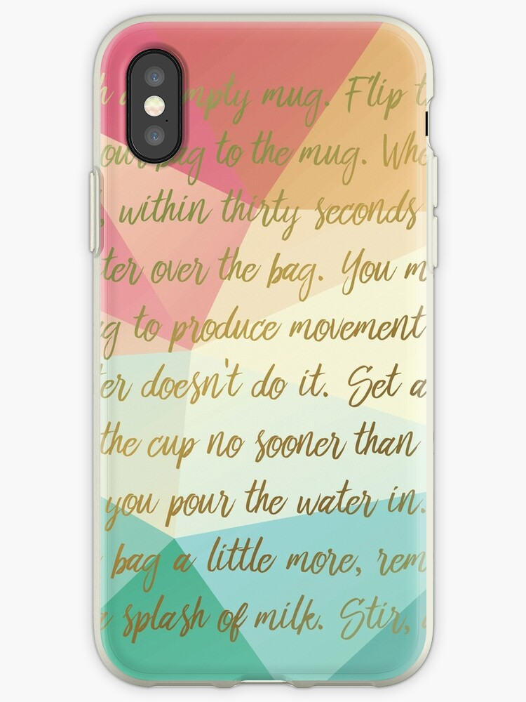 Instructions For A Perfect Cup Of Tea Iphone Cases Covers By