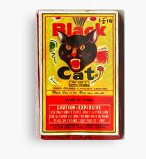 Black Cat Fireworks Metal Print